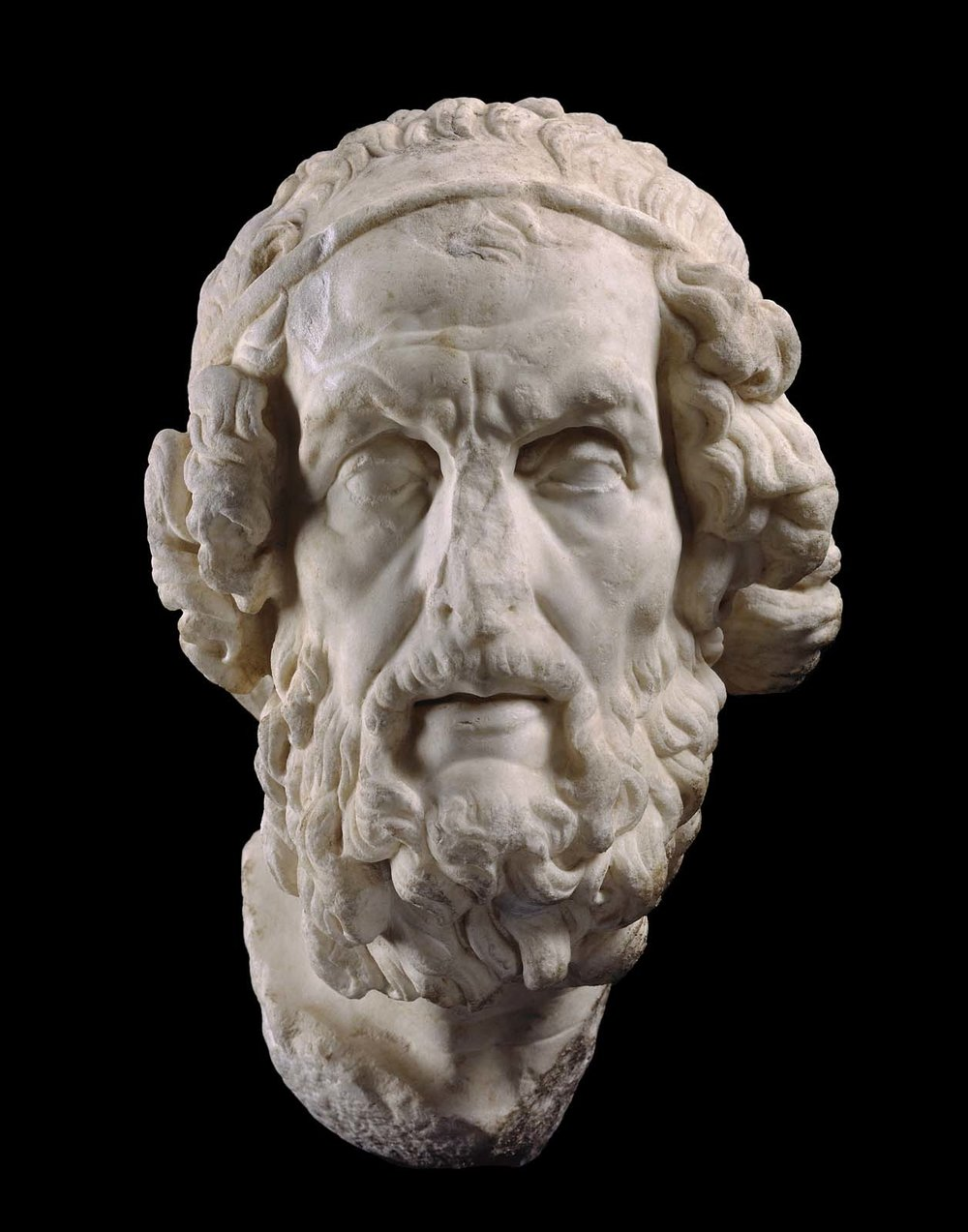 Homer, C. 100 BC. Marble. Museum of Fine Arts Boston.   Source: http://www.mfa.org/collections/object/homer-151122