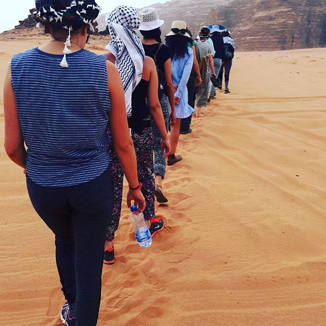 22 #women ventured out on a #peacebuilding journey in the #deserts of Wadi Rum #israeli #palestinian #reconciliation #peacemakers