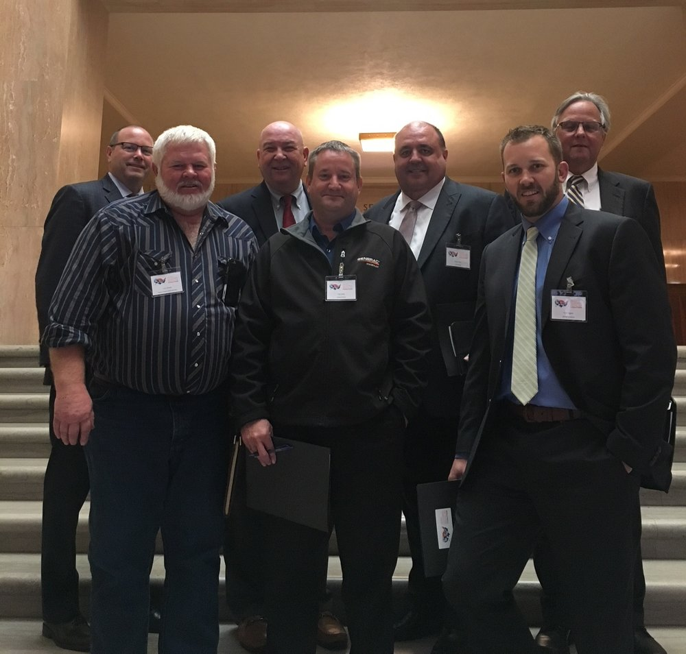 Representatives from the Oregon Heavy Equipment Rental Tax Coalition visited the Oregon State Capitol in November.