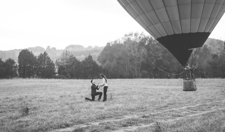 Amber Michael Hot Air Balloon Proposal Chattanooga Tn Hannah