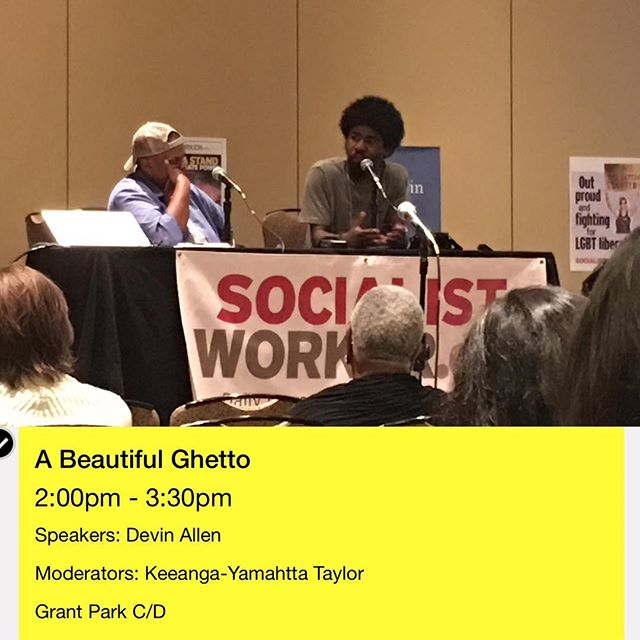 #baltimore in #chicago at #socialism2017 @bydvnlln & @keeangayamahtta