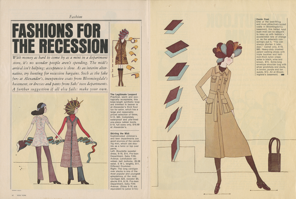 <i>Fashions for the Recession</i>, 1970