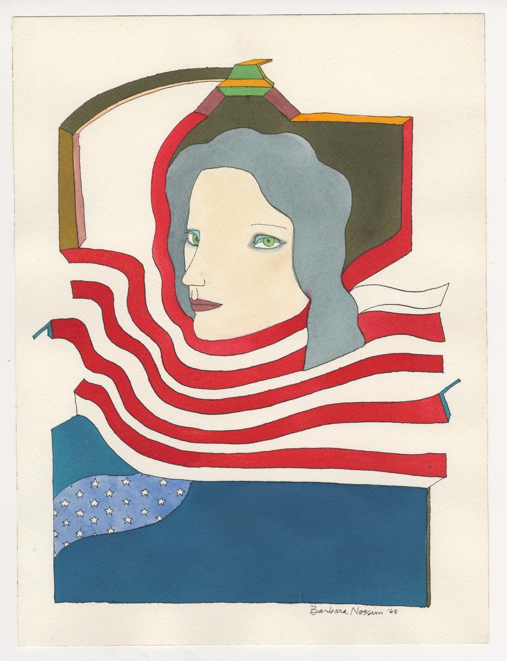 <I>Flow of Stars and Stripes</I>, 1968