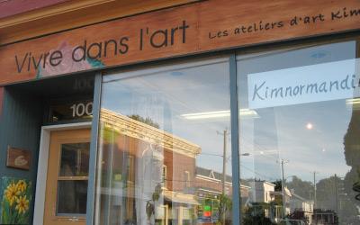 Atelier- Galerie sur le coin des rues Notre-Dame et St-Paul à Sait-Césaire de 2000 à 2009