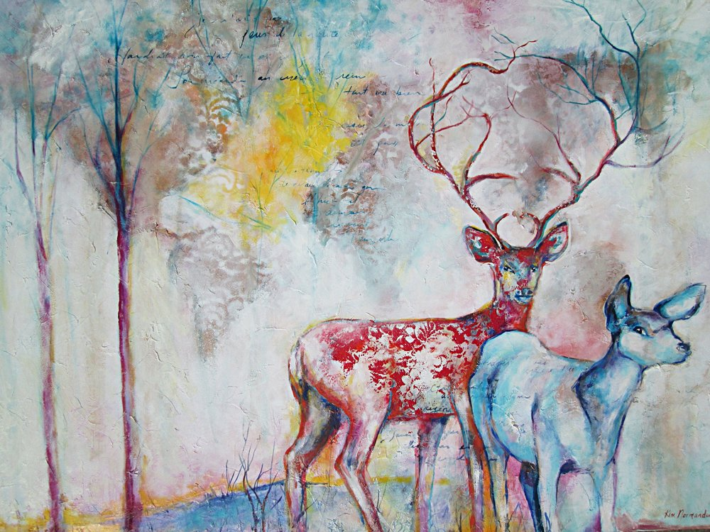 """""""Together"""", 24""""x30"""", sold"""