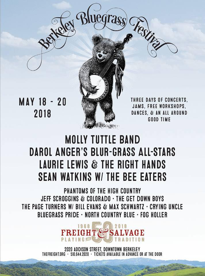 It's gonna be May... - and we couldn't be more excited. From Savannah Music Festival presents Musical Explorers, to a David Grisman Quintet Tribute in Terlingua, TX, we've got plenty of cool events ahead of us as the weather heats up. One exciting event we're extremely honored to be part of is the Berkeley Bluegrass Festival, hosted at Freight & Salvage! We hope you will come see us with Bill Evans and Max Schwartz this May 20th.We'll be on the road and playing music left and right all summer, so be sure to head over to our 'shows' tab to keep up to date with our summer tour schedule. Hope to see you soon!