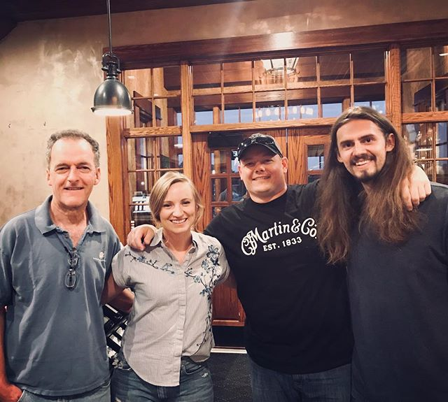 Absolutely stoked that our two very good friends and LEGEND luthiers came to our @oweravineyards show. Check out Gerald Anderson (Troutdale, VA) and Josh Reese of @mossridgeguitars. We play at @jalopybrooklyn this Friday with the @abbyhollanderband.