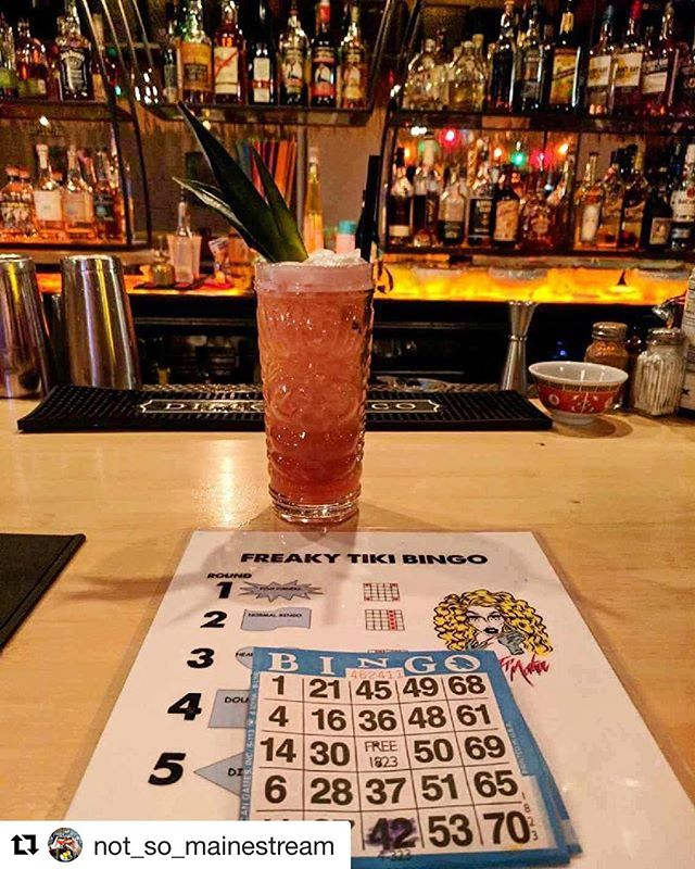 We're here for #freakytikibingo tonight! Are you? 📷: @not_so_mainestream
