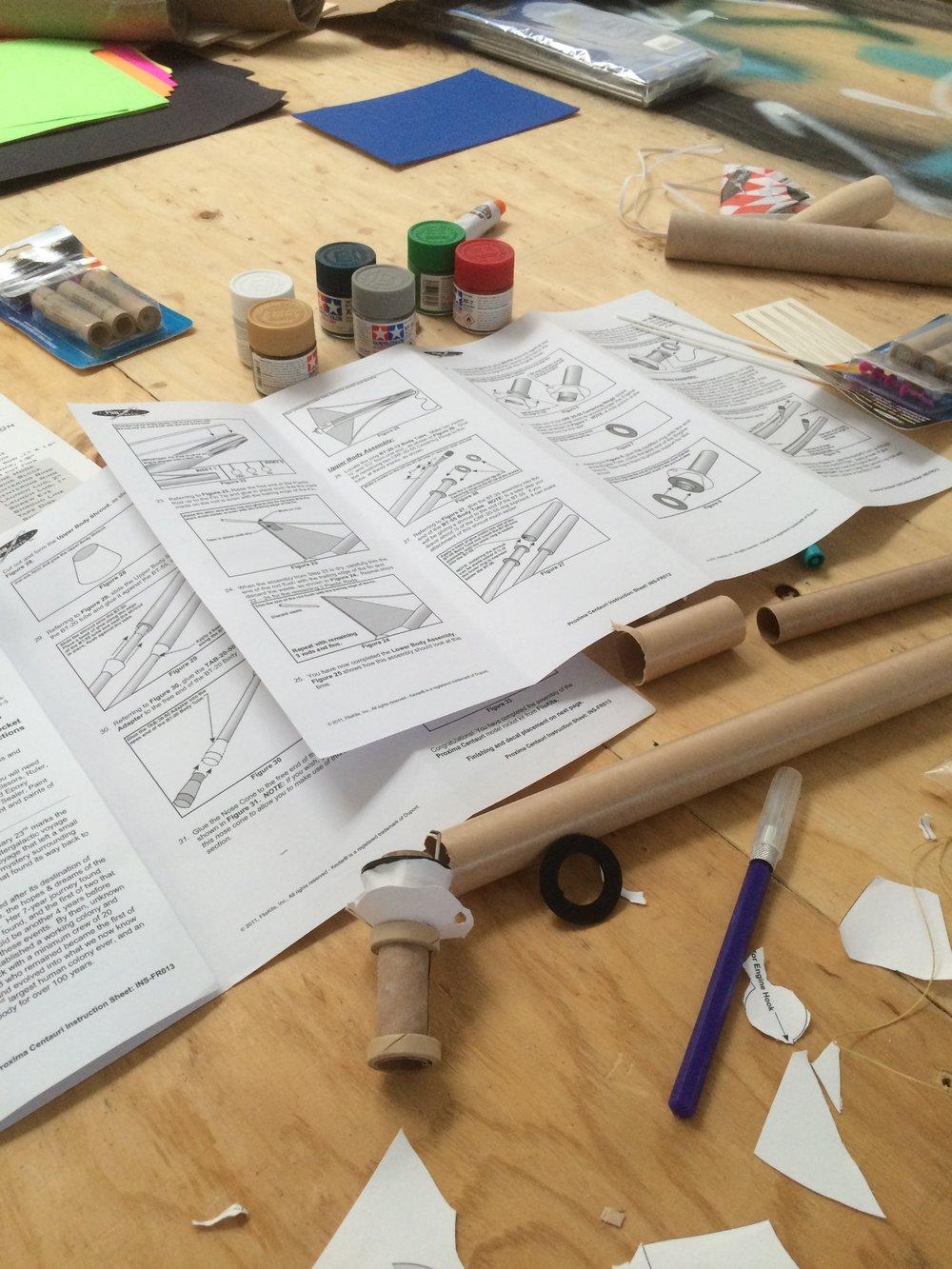 Model rocket mess!
