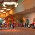 Maypole Dancers Rehearsing