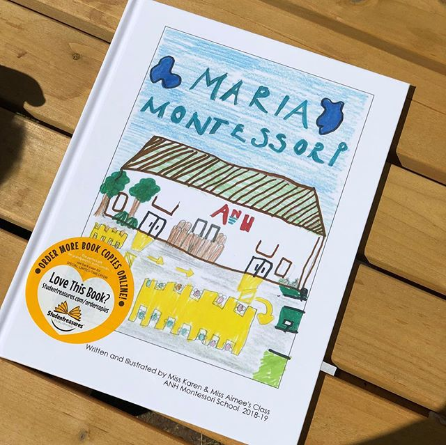 Today is the day! Lower Elementary students researched the life of Dr. Maria Montessori, then wrote, illustrated and published a book! Students welcomed their families to the book launch with fresh baked goods and hot tea. #servantstudents #montessori #graceandcourtesy #writers #illustrators #publishers