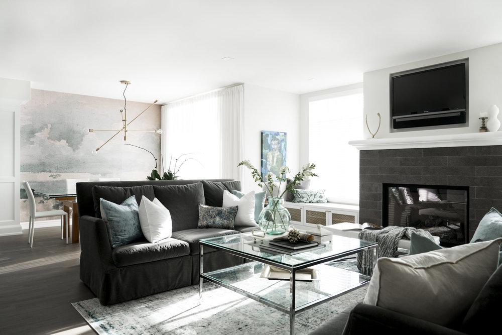 MJAY Photography - Gioia Interiors - Memorial Drive Condo Living Room