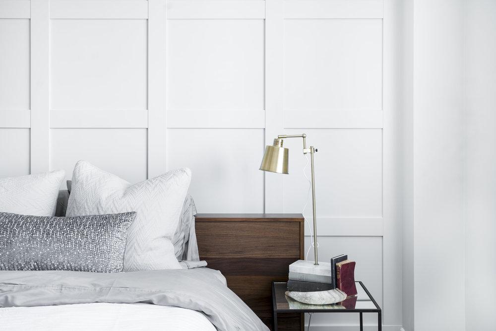 MJAY Photography - Gioia Interiors - Memorial Drive Condo Bedroom