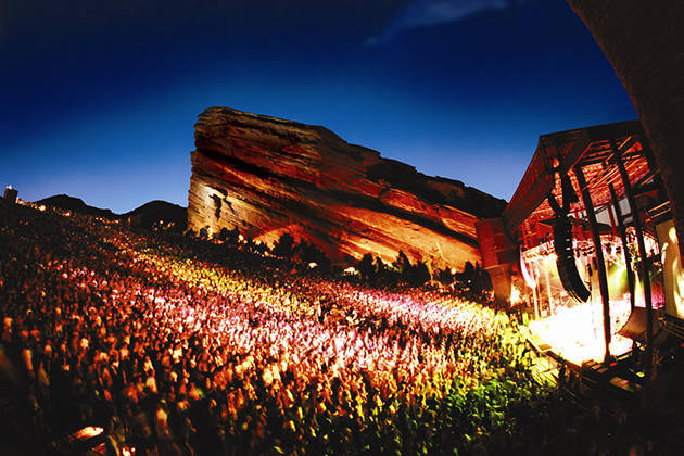 World Renowned Red Rocks Amphitheater in Morrison, CO