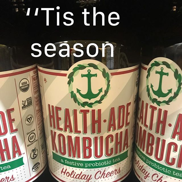 "So many fun ""goodies"" for the holidays!  This goodie is actually good for you! It's the special once a year holiday flavor!  @healthade @wholefoods #healthyholiday.  How do you try to stay healthy during the holiday season?🎅🏻🎄"