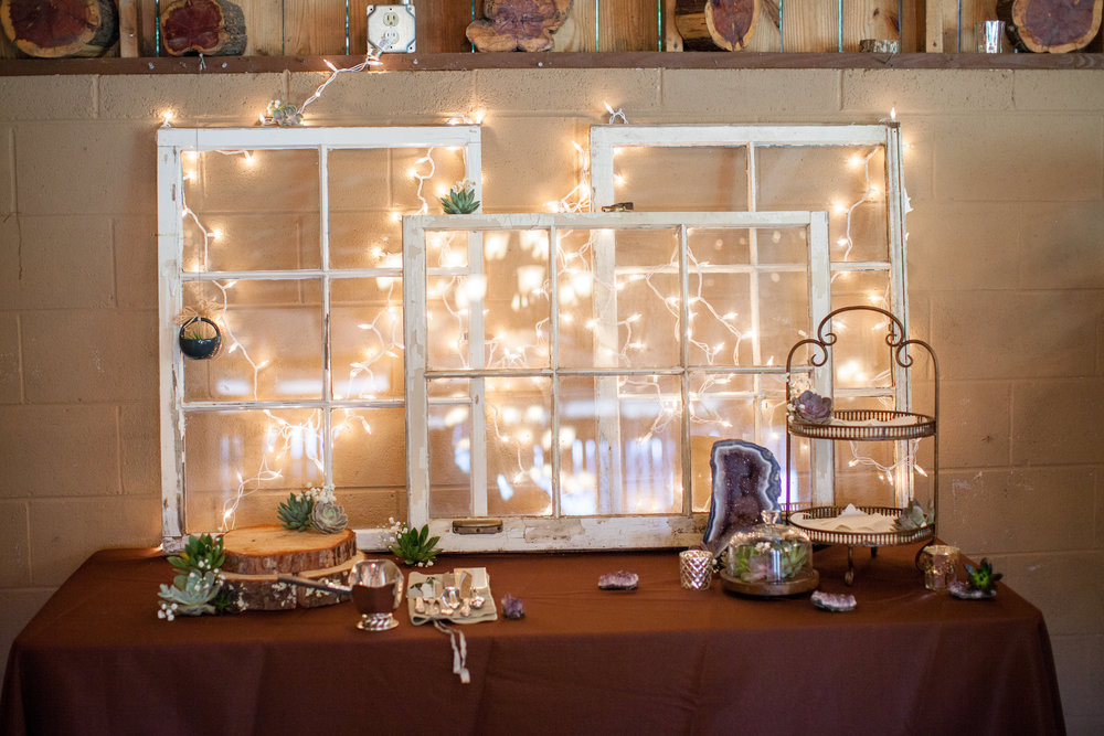 The items we left for Meg to decorate the cake table with...  Nick King Photography