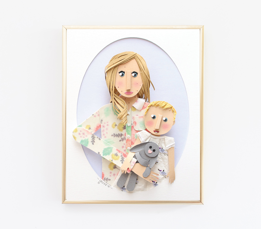 Custom Mom and Baby Portraits