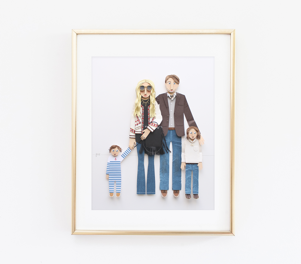 Rachel Zoe Family Illustration