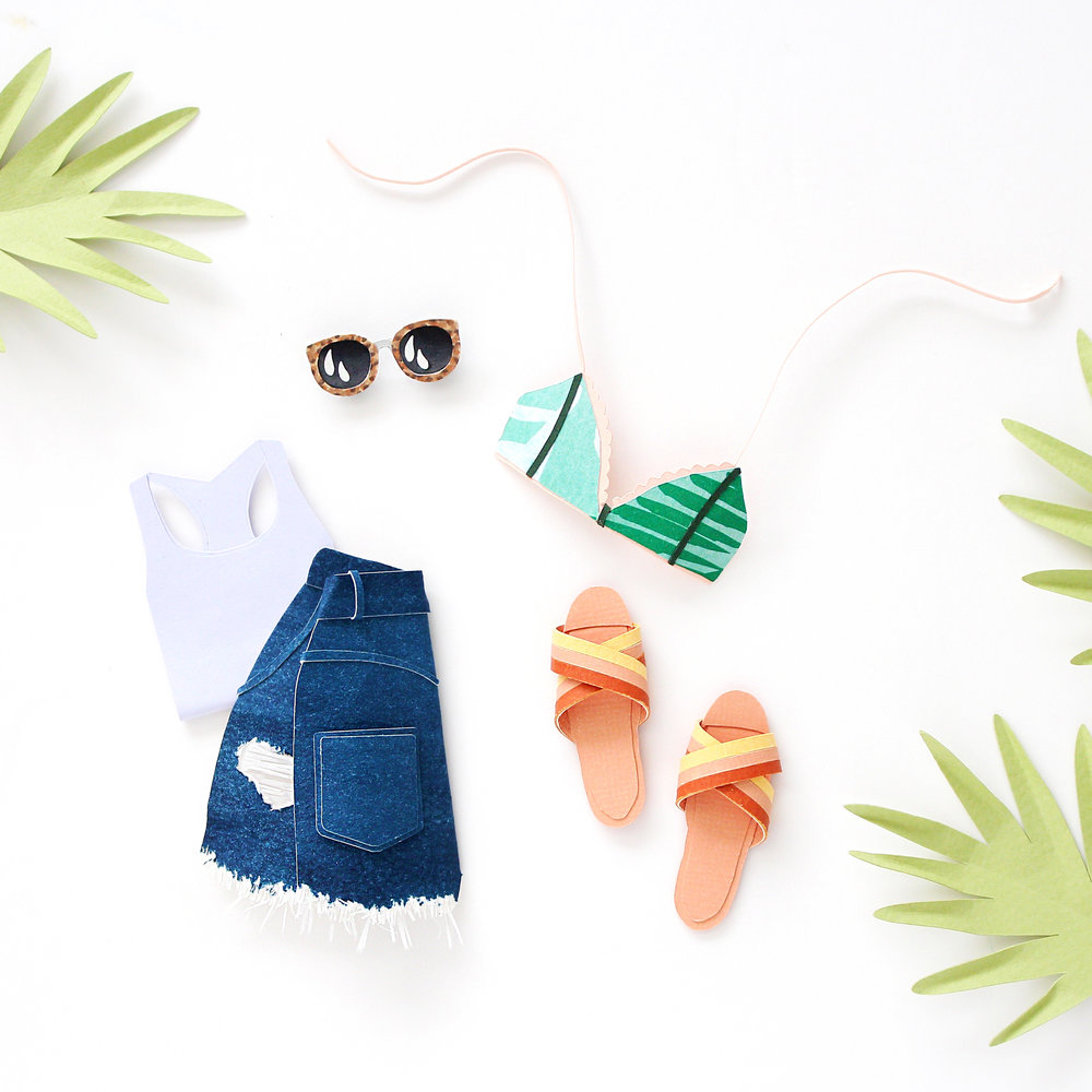 The perfect beach day picks by Brittani Rose Paper