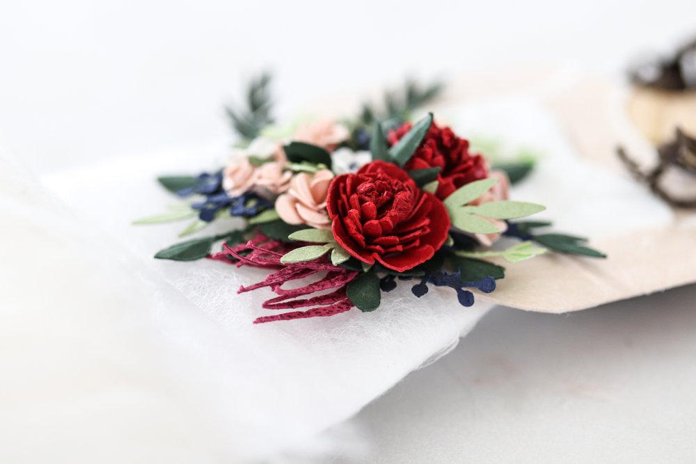 Paper Wedding Bouquet by Artist Brittani Rose