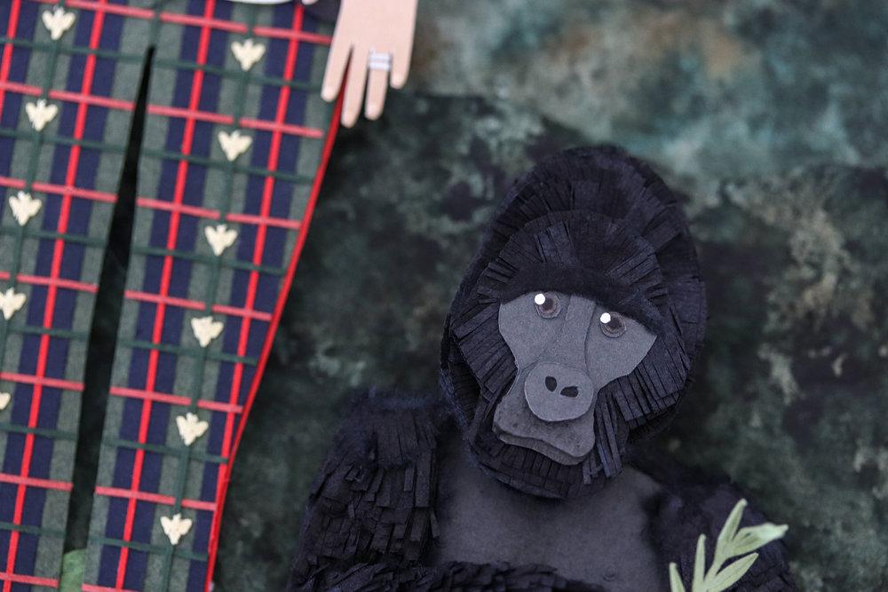 paper gorilla by Brittani Rose