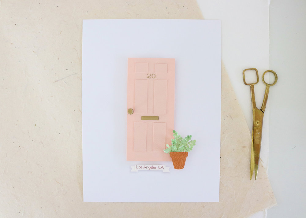 "Custom Door Portrait with ""Glass"" Inlay - from $170"