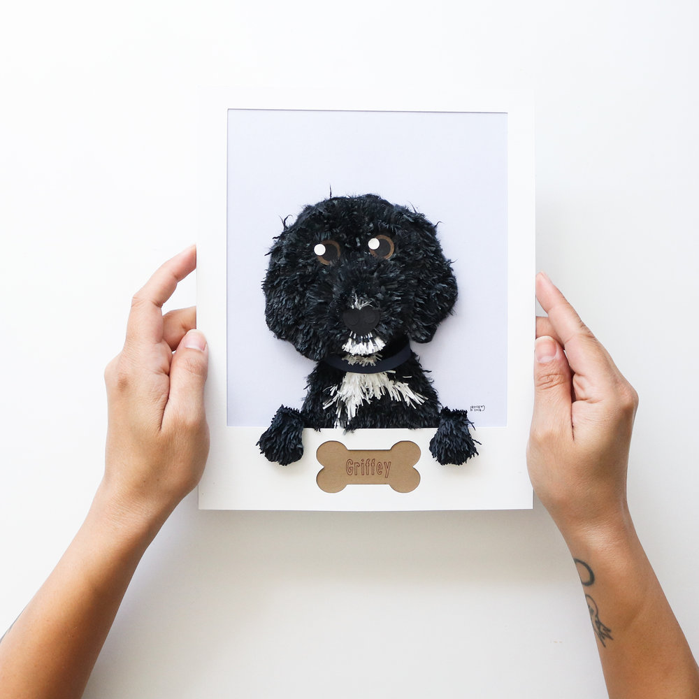 One-of-a-kind art. - Create a portrait of your beloved pet with photos you provide.