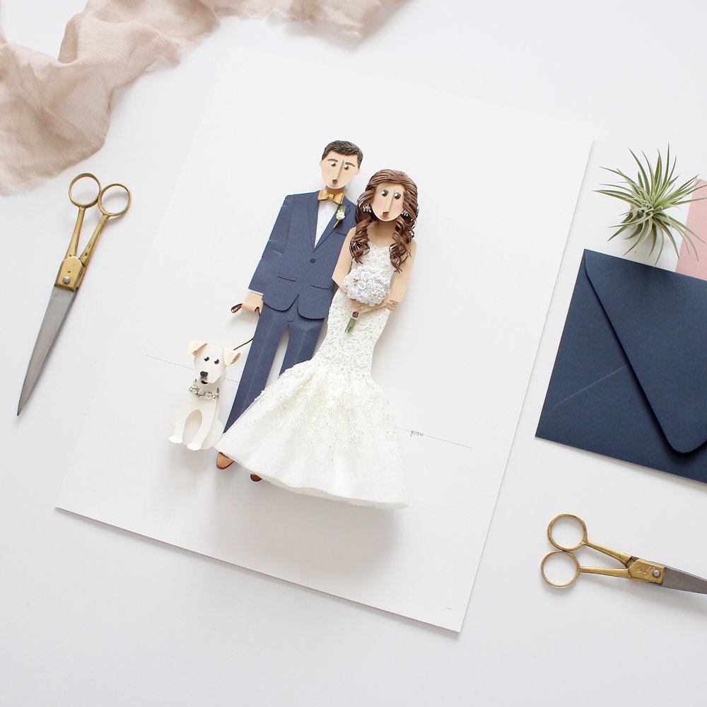 - Custom Wedding Portrait