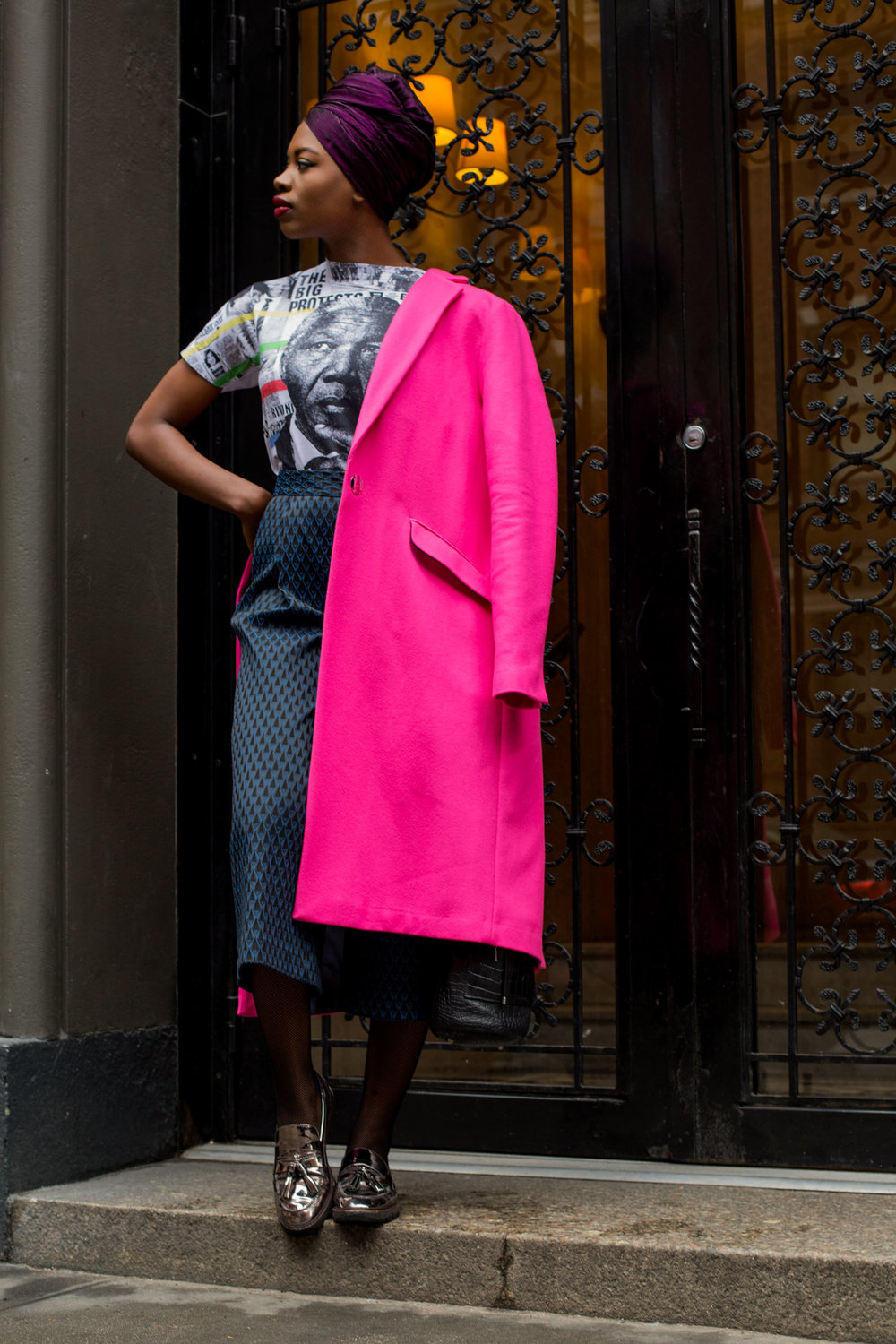 A Very Bright Pink Coat — Finding Paola