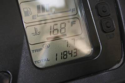 Beginning mileage...11843