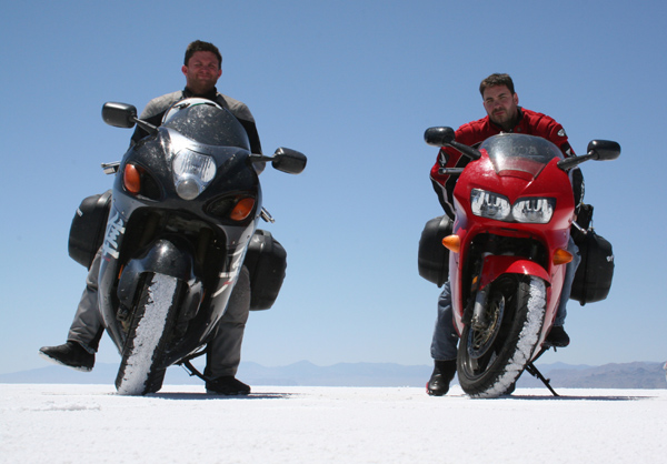Us at the Bonneville Salt Flats