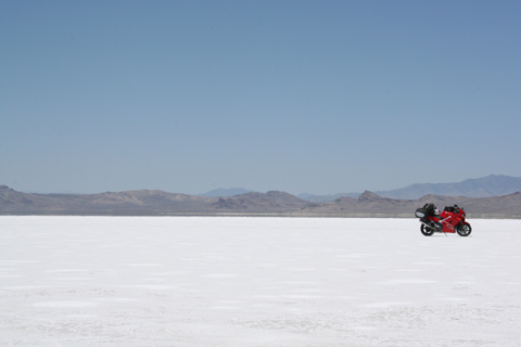 This is the Salt Flats.   Records are made here, and broken.