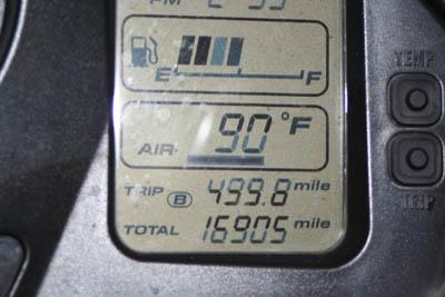 VFR ending mileage 16905