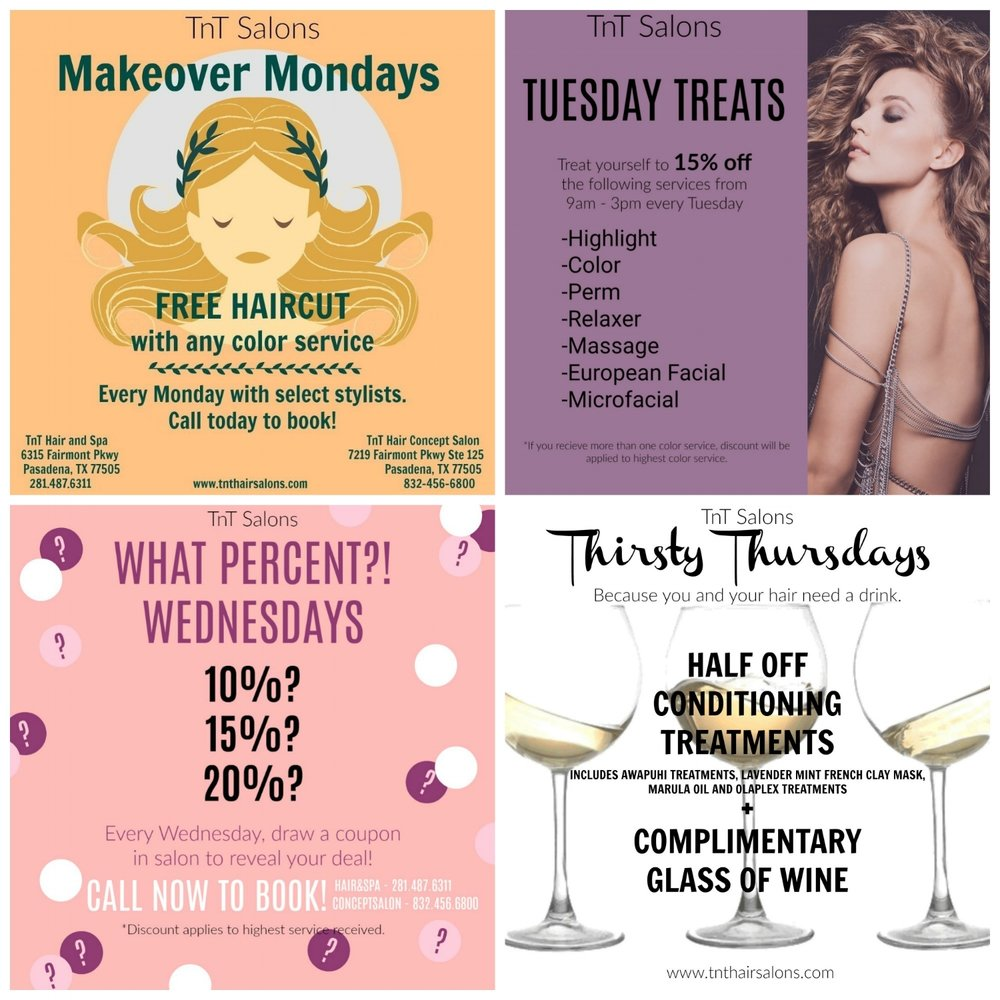 Daily Deals Going On Now Tnt Hair Salons