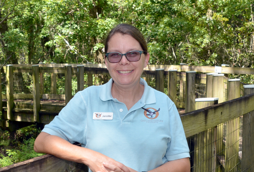 Jennifer Managing Director     Favorite Animal:  Manatee   Favorite Flower:  Oakleaf Hydrangea   What I Like Most About Working at ONP:  The wonderful team of volunteers and staff.  Born and raised in Winter Garden, FL. Jennifer has close ties to the Oakland Nature Preserve. Jennifer holds a master's degree in Zoology with a focus on conservation and inquiry-based education from Miami University located in Oxford, Ohio. While completing her degree Jennifer had the opportunity to study coastal ecosystems in Belize, high desert systems and Whale sharks in Baja, and the Great Barrier Reef in Australia. Jennifer is a Florida Master Naturalist Program Lead Instructor and is a member of the FMNP Advisory Board. Previously she served as Lead Environmental Educator where she developed new programs while leading a wonderful team of educators. Jennifer also has a great love of music, and in the past, has served as a Director of Music.  Jennifer also has a great love for one of Florida's iconic creatures, the Florida manatee. As a research assistant with Sea to Shore Alliance she has had the opportunity to track native juvenile animals, log behavioral observations, conduct physical examinations, and assist with rescues and releases of these wonderful animals. Other interests include scuba diving, nature photography, hiking, kayaking, and hanging out with family and friends.  This position manages the daily operations, finances, marketing, fundraising and other general business for the Preserve.