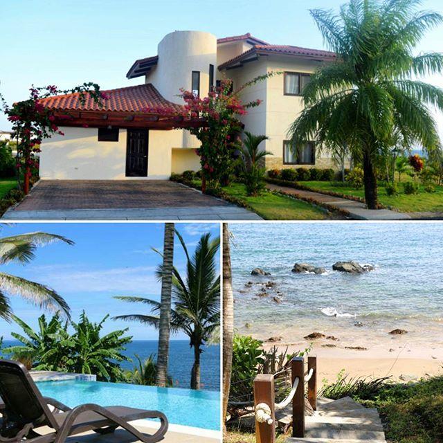 ¿Cómo quieres tu casa en #AndromedaPedasi? Ésta, por ejemplo, presenta un estilo moderno-rústico, cuenta con su propia salida al mar y una piscina infinity 😱 Aquí tú decides entre construir nuestros modelos o llevar tu propio diseño a la realidad 🙏. #GoodLife #BeachHouse #paradise #BeachFront #RealEstate #Pedasi #Panama.