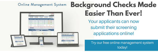 Background screening online applications