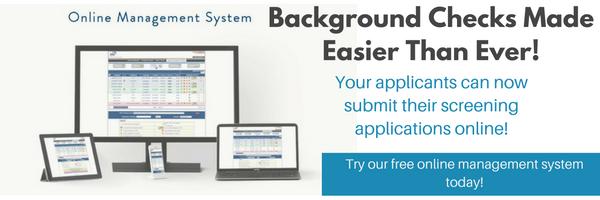 Online background checks SSCI