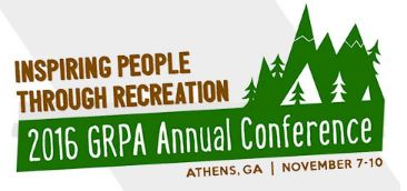 Georgia GRPA conference 2016 Parks and Recreation