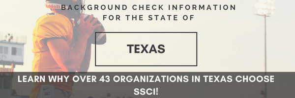 SSCI Texas Background Checks