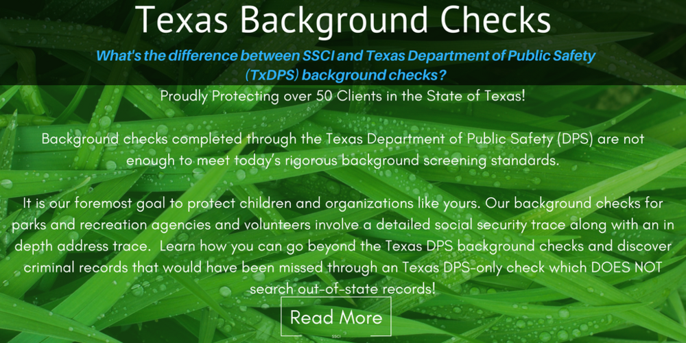 Texas DPS Background Checks