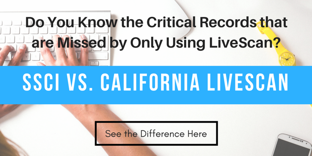 California LiveScan Background Checks