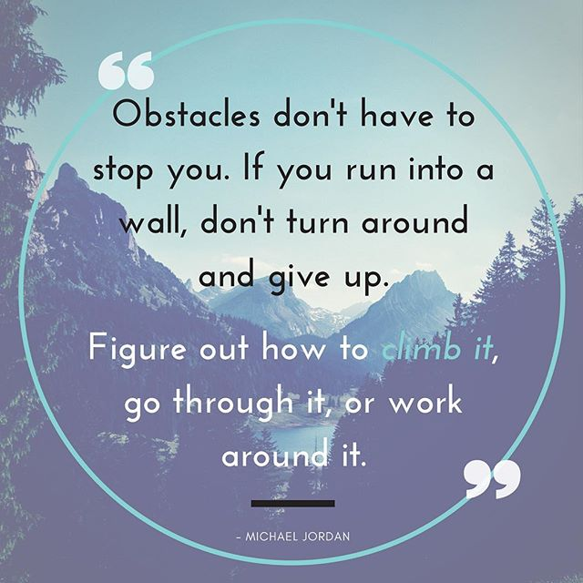 Don't let obstacles hold you back! #wisewordswednesdays #sportsquotes #youthsports #playon