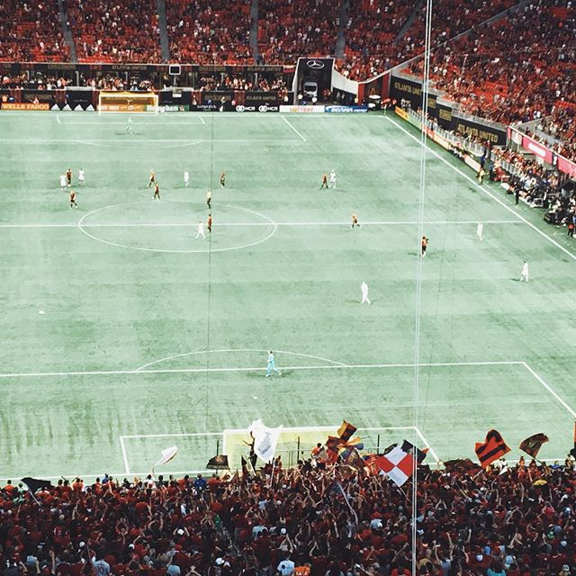Congratulations to our home team, #AtlantaUnited on a great game and win yesterday! #playon #atlutd #georgiasports #soccer