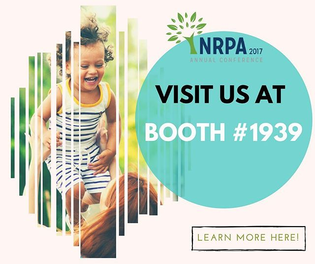 Stop by our booth today at the #nrpacongress for a chance to win great prizes (Fitbits!) and to learn more about how we help to keep children safe in Parks and Recreation! #gooutandplay #gooutside #youthsports #nola #parksandrec #optoutside #nrpa #everykidinapark