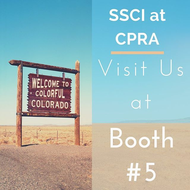 We're in Colorful Colorado today at the annual Colorado Parks and Recreation Association Conference! #CPRA Visit us at Booth #5 and learn how SSCI can help to keep your #colorado communities safe!  #cpraconference #keystone #colorfulcolorado #coloradoparks #coloradorec