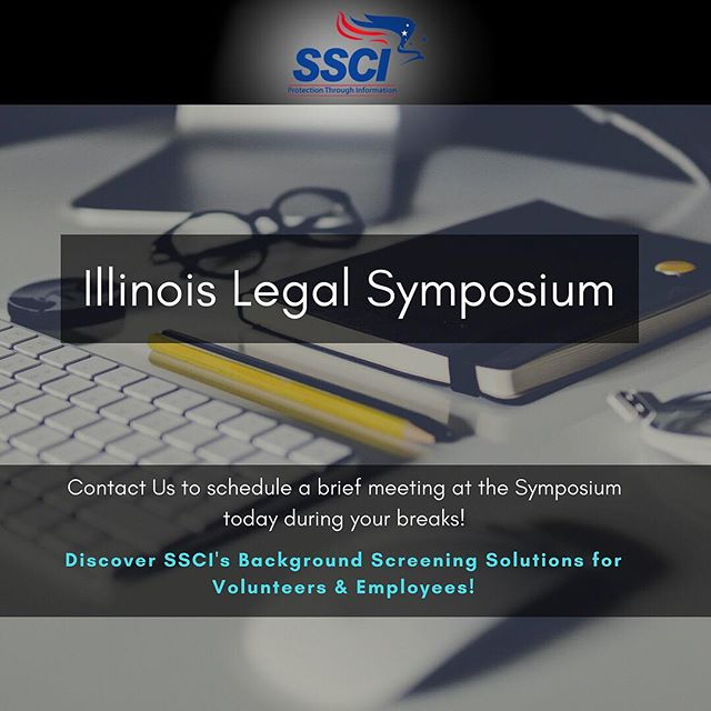 We're at the Illinois Legal Symposium today! Click the link in the bio to schedule a brief meeting with us during your breaks! Say hi to Chris at the SSCI booth!