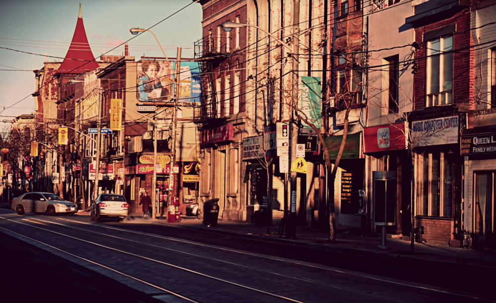 Morning light on Queen Street West