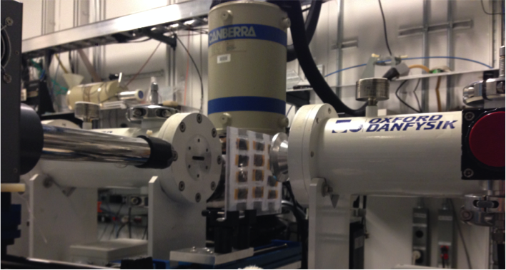 Mn oxide samples at 5-BM-D at the Advanced Photon Source -ready to collect XAFS spectra!