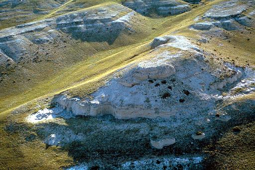 Agate Fossil Beds National Monument, Niobrara River Valley, NE, with Miocene-age rocks and fossils. Image Courtesy of National Park Service and   Earth Science World Image Bank http://www.earthscienceworld.org/images